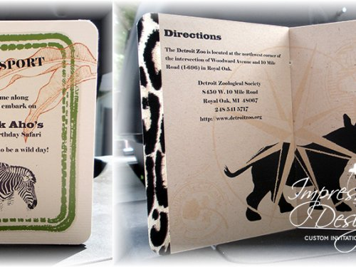 Detroit Zoo Birthday Passport